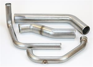 Freightliner Piping Kit-Cascadia CAC-RAD Mill Finish Detroit Series 60 DDEC3-4