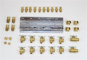 Coolant Distribution Manifold - Common Rail 5 Port Manifold With Fittings for a Kenworth-Peterbilt-Freightliner