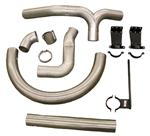 Exhaust Piping Kit - Kenworth Aerocab Under Frame, Dual Exhaust